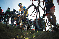 Corné van Kessel (NLD) riding the ditch<br /> <br /> 2014 Noordzeecross<br /> Elite Men