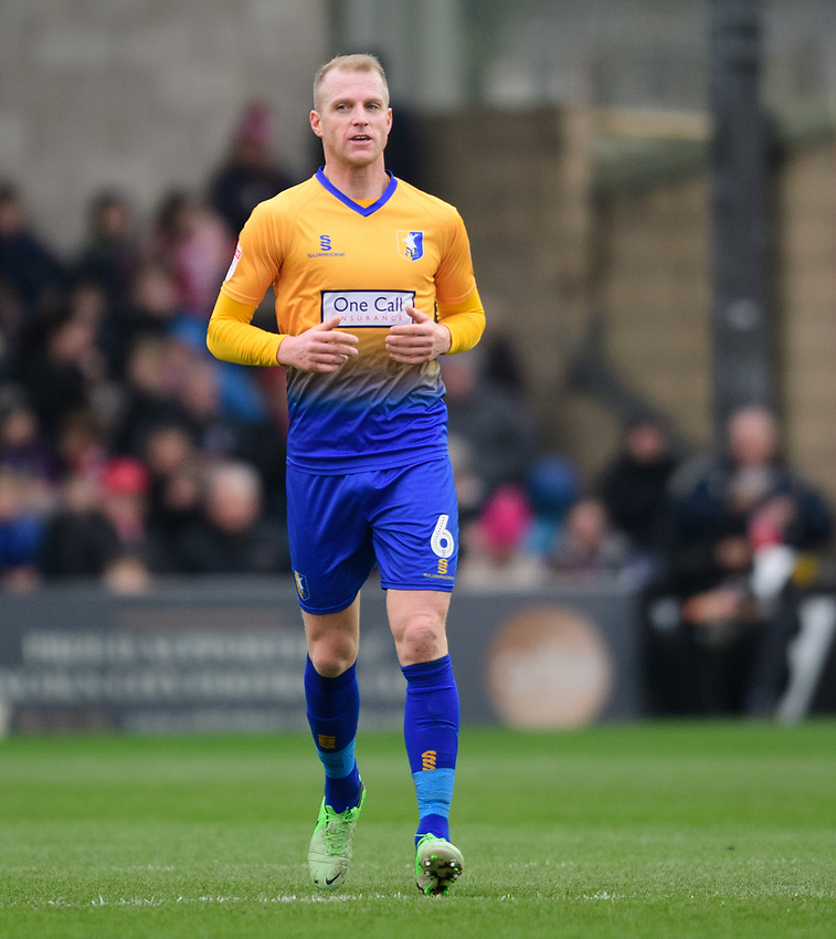 Mansfield Town's Neal Bishop<br /> <br /> Photographer Chris Vaughan/CameraSport<br /> <br /> The EFL Sky Bet League Two - Lincoln City v Mansfield Town - Saturday 24th November 2018 - Sincil Bank - Lincoln<br /> <br /> World Copyright © 2018 CameraSport. All rights reserved. 43 Linden Ave. Countesthorpe. Leicester. England. LE8 5PG - Tel: +44 (0) 116 277 4147 - admin@camerasport.com - www.camerasport.com