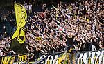 Solna 2015-07-09 Fotboll Kval UEFA Europa League AIK - VPS Vaasa :  <br /> AIK:s supportrar under matchen mellan AIK och VPS Vaasa<br /> (Foto: Kenta J&ouml;nsson) Nyckelord:  AIK Gnaget Friends Arena UEFA Europa League Kval Kvalmatch Solna Stockholm VPS Vaasa Finland supporter fans publik supporters jubel gl&auml;dje lycka glad happy