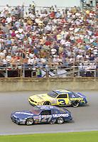 Rusty Wallace 27 Dale Earnhardt 3 action Daytona 500 at Daytona International Speedway in Daytona Beach, FL in February 1986. (Photo by Brian Cleary/www.bcpix.com) Daytona 500, Daytona International Speedway, Daytona Beach, FL, February 16, 1986.  (Photo by Brian Cleary/www.bcpix.com)
