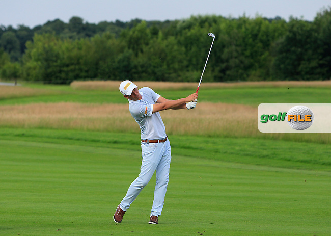 Marcel Siem (GER) on the 18th fairway during the Round 2 of the 2016 BMW International Open at the Golf Club Gut Laerchenhof in Pulheim, Germany on Friday 24/06/16.<br /> Picture: Golffile | Thos Caffrey