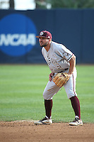 Ryne Birk (2) of the Texas A&M Aggies in the field during a game against the Pepperdine Waves at Eddy D. Field Stadium on February 26, 2016 in Malibu, California. Pepperdine defeated Texas A&M, 7-5. (Larry Goren/Four Seam Images)