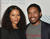 SAN RAFAEL, CA - OCTOBER 07: Taylor Russell and Kelvin Harrison Jr. arrive to the Centerpiece Film 'Waves' during the 42nd Mill Valley Film Festival at Christopher B. Smith Rafael Film Center on October 9, 2019 in San Rafael, California. Photo: imageSPACE for the Mill Valley Film Festival/MediaPunch