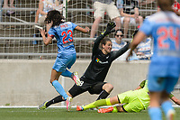 Bridgeview, IL - Sunday June 04, 2017: Haley Kopmeyer, Christen Press during a regular season National Women's Soccer League (NWSL) match between the Chicago Red Stars and the Seattle Reign FC at Toyota Park.