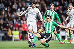 Alvaro Morata of Real Madrid battles for the ball with Aissa Mandi of Real Betis during their La Liga match between Real Madrid and Real Betis at the Santiago Bernabeu Stadium on 12 March 2017 in Madrid, Spain. Photo by Diego Gonzalez Souto / Power Sport Images