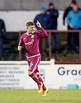 02.05.2018 Arbroath v Dumbarton: Bobby Linn celebtates his goal