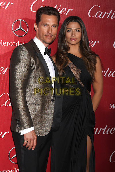 PALM SPRINGS, CA - January 04: Matthew McConaughey, Camila Alves McConaughey at the 25th Annual Palm Springs International Film Festival, Palm Springs Convention Center, Palm Springs,  January 04, 2014. <br /> CAP/MPI/JO<br /> &copy;Janice Ogata/MPI/Capital Pictures