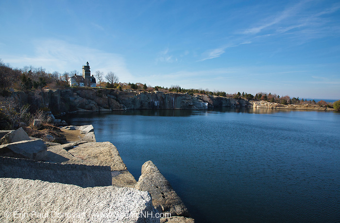 Abandoned quarry at Halibut Point State Park on Cape Ann in the town of Rockport, Massachusetts. This  was the site of the Babson Farm granite quarry.