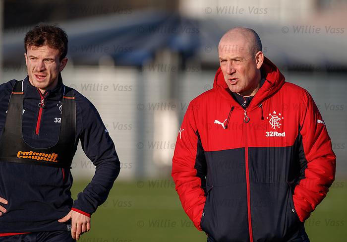 Mark Warburton and Andy Halliday
