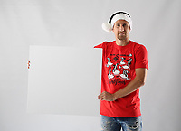 Pictured: Federico Fernandez<br /> Swansea City FC and Ospreys RFC Christmas photo shoot at the Fairwood Trainining Ground, near Swansea, Wales, UK. 17 October 2017