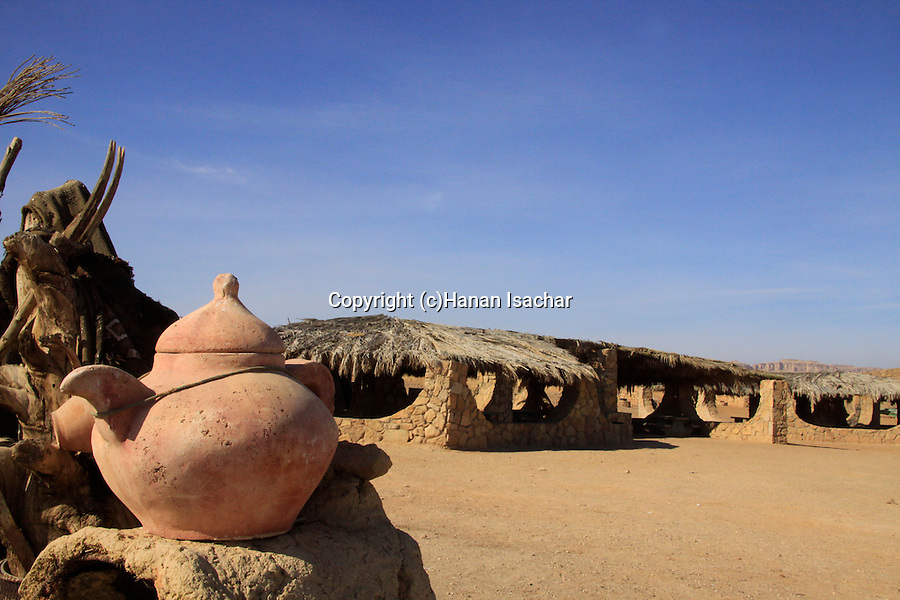 Israel, Negev desert, Be'erot campground in Ramon Crater.