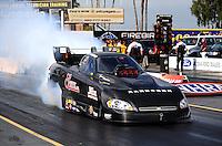 Feb. 19, 2010; Chandler, AZ, USA; NHRA funny car driver Gary Densham during qualifying for the Arizona Nationals at Firebird International Raceway. Mandatory Credit: Mark J. Rebilas-