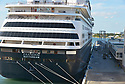 FORT LAUDERDALE, FL - April 02: Zaandam cruise ships arrive at Port Everglade on April 02, 2020 in Fort lauderdale, Florida. The Holland America cruise line ship had been at sea for the past 19 days after South American ports denied their entry due to the Coronavirus outbreak. Reports indicated that two of four people that died aboard the Zaandam had tested positive for COVID-19. Those passengers that are fit for travel in accordance with guidelines from the U.S. Centers for Disease Control will be permitted to disembark.   ( Photo by Johnny Louis / jlnphotography.com )