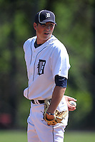 Detroit Tigers minor league player Tim Mowry #53 during a spring training game against the Houston Astros at Tiger Town on March 23, 2011 in Lakeland, Florida.  Photo By Mike Janes/Four Seam Images