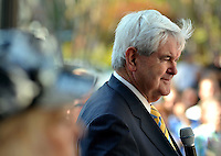 11/17/11 3:50:10 PM -- Jacksonville, FL, U.S.A. -- Republican presidential candidate Newt Gingrich addresses and answers questions from the audience during a town hall meeting at The Jacksonville Landing in downtown Jacksonville, Fl. Thursday afternoon November 17, 2011. The the meeting was sponsored by the First Coast Tea Party.   Photo by Rick  Wilson, Freelance.