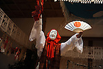 Yokagura in which villagers perform 33 Kagura, Shinto theatrical dance, all night in Takachiho.