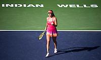 Belinda Bencic of Switzerland in action at the BNP Paribas Open at the Indian Wells Tennis Garden, Indian Wells, California, USA.