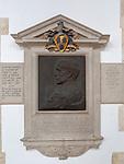 Ernest Crofts memorial 1847-1911, keeper of Royal Academy, Holy Trinity church, Blythburgh, Suffolk, England, UK