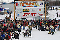 Gerry Willomitzer Willow restart Iditarod 2008.