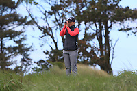 Romy Meekers (NED) on the 17th tee during Round 3 of the Irish Women's Open Stroke Play Championship 2018 on Saturday 13th May 2018.<br /> Picture:  Thos Caffrey / Golffile<br /> <br /> All photo usage must carry mandatory copyright credit (&copy; Golffile | Thos Caffrey)