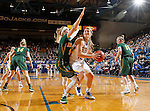 BROOKINGS, SD - FEBRUARY 6:  Macy Miller #12 from South Dakota State looks at the basket past Brooke Yaggie #5 from North Dakota State Saturday afternoon at Frost Arena in Brookings. (Photo by Dave Eggen/Inertia)