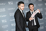 Magicians Dan White (left) and Jonathan Bayme arrive at the WSJ. Magazine 2017 Innovator Awards at The Museum of Modern Art in New York City, on November 1, 2017.