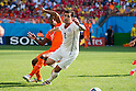 Georginio Wijnaldum (NED), Eugenio Mena (CHI), JUNE 23, 2014 - Football / Soccer : FIFA World Cup Brazil 2014 Group B match between Netherlands 2-0 Chile at Arena de Sao Paulo Stadium in Sao Paulo, Brazil. (Photo by Maurizio Borsari/AFLO)