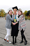 23/10/2015  Pictured at the recent Mary Immaculate College conferring ceremonies were Liz Hannafin, Ballingarry, Co. Limerick, who graduated with a Diploma in Inclusive Care and Education, with daughters Jennifer and kate Hannafin. 625 students from 20 counties and 3 continents were conferred with academic awards across the College&rsquo;s 27 programmes including the College&rsquo;s 100th PhD award.<br /> Pic: Gareth Williams / Press 22<br /> <br /> Press Release: 23rd October 2015Education is a movement of formation that enables the individual to play their role in transforming society for the common good.100th PhD Graduate Conferred at Mary Immaculate CollegeEducation is a movement of formation that enables the individual to play their role in transforming society for the common good according to Prof. Michael A Hayes, President of Mary Immaculate College, who was speaking at the College&rsquo;s conferring ceremonies today Friday 23rd October. The quality of advanced scholarship at Mary Immaculate College was evident on the day as the 100th PhD graduate was conferred along with close on 650 students from 20 counties and 3 continents all of whom graduated with academic awards across the College&rsquo;s 27 programmes. Congratulating all those graduating the President said &ldquo;These ceremonies mark the high point of the College&rsquo;s year as we acknowledge the achievement of our students. The ceremonies this year are particularly special as we mark the conferring of our 100th PhD Graduate &ndash; this is a very proud achievement for us as a College and I want to congratulate those who have received these doctorates and my colleagues who supervised their work&rdquo;. Not only were students conferred with awards on undergraduate, diploma, graduate diploma and master programmes but this year marked the first graduation of students from the Certificate in General Learning &amp; Personal Development, a programme  for people with intellectual disabilities.&ldquo;Working with students with intellectual disabilities and offeri