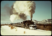 #483 leads a Tank Train East of Chama.<br /> D&amp;RGW  e. of Chama, NM  Taken by Gildersleeve, Thomas H.