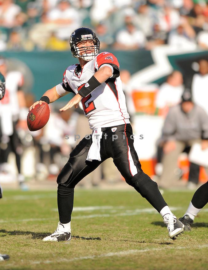 MATT RYAN, of the Atlanta Falcons, in action against the Philadelphia Eagles during the Falcons game in Philadelphia, Pa on October 26, 2008...The Eagles win 27-14