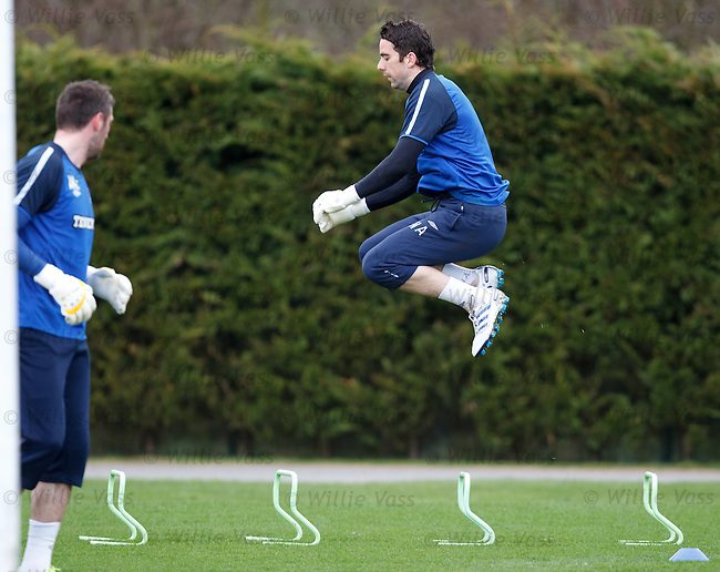 Neil Alexander flying at training
