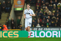 George Byers of Swansea City during the Sky Bet Championship match between Norwich City and Swansea City at Carrow Road in Norwich, England, UK. Friday 08 March 2019