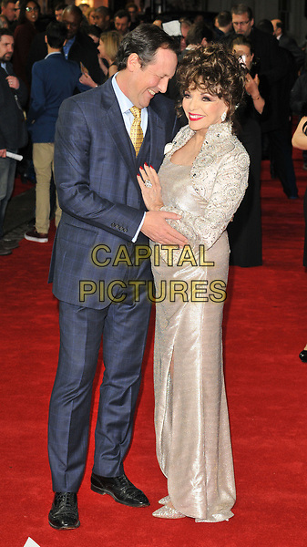 Percy Gibson and Dame Joan Collins at the &quot;The Time of Their Lives&quot; world film premiere, Curzon Mayfair cinema, Curzon Street, London, England, UK, on Wednesday 08 March 2017.<br /> CAP/CAN<br /> &copy;CAN/Capital Pictures