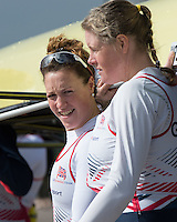 Caversham. Berkshire. UK<br /> left,Karen BENNETT and Frances HOUGHTON.<br /> 2016 GBRowing European Team Announcement,  <br /> <br /> Wednesday  06/04/2016 <br /> <br /> [Mandatory Credit; Peter SPURRIER/Intersport-images]