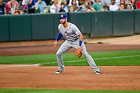 Joey Gallo (13) of the Round Rock Express on defense against the Salt Lake Bees in Pacific Coast League action at Smith's Ballpark on August 15, 2016 in Salt Lake City, Utah. Round Rock defeated Salt Lake 5-4.  (Stephen Smith/Four Seam Images)