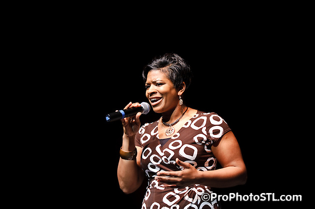 """Chi T. Mathias, a professional vocalist, songwriter and recording artist performing at  """"Walk In Her Shoes - Designer Shoe Fashion and Trunk Show 2009"""" event organized by Every Step Counts at Mildred Bastian Centre for Performing Arts Theater of Forest Park Community College, 5600 Oakland Ave, St. Louis, Missouri on Apr 11, 2009."""