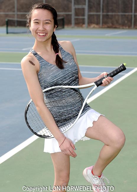 Huron High School girl's varsity tennis team. 4-2-14