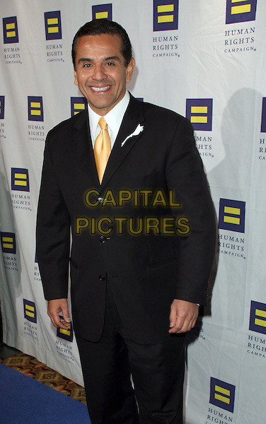 ANTONIO VILLARAIGOSA.The Human Rights Campaign's Annual Los Angeles Gala & Hero Awards held at the Hyatt Regency Plaza Hotel, Century City, California, USA, .14th March 2009..half length black suit yellow tie .CAP/ADM/KB.©Kevan Brooks/Admedia/Capital PIctures
