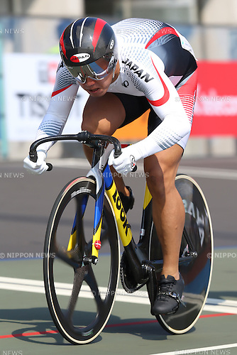 Yuta Wakimoto (JPN),<br /> SEPTEMBER 25, 2014 - Cycling - Track : <br /> Men's Keirin Qualifying <br /> at Incheon International Velodrome <br /> during the 2014 Incheon Asian Games in Incheon, South Korea. <br /> (Photo by Shingo Ito/AFLO SPORT)
