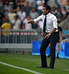 Nederland, Eindhoven, 30 augustus 2015<br /> Eredivisie<br /> Seizoen 2015-2016<br /> PSV-Feyenoord<br /> Giovanni van Bronckhorst, trainer-coach van Feyenoord geeft aanwijzingen.