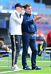 v.l. Co-Trainer Tobias Schweinsteiger, Trainer Dieter Hecking (HSV)<br /> Hamburg, 28.06.2020, Fussball 2. Bundesliga, Hamburger SV - SV Sandhausen<br /> Foto: Tim Groothuis/Witters/Pool//via nordphoto<br />  DFL REGULATIONS PROHIBIT ANY USE OF PHOTOGRAPHS AS IMAGE SEQUENCES AND OR QUASI VIDEO<br /> EDITORIAL USE ONLY<br /> NATIONAL AND INTERNATIONAL NEWS AGENCIES OUT
