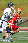 Mission Viejo, CA 05/14/11 - Luke Mullan (Loyola #9) and Robbie Romero (Mission Viejo #1) in action during the Division 2 US Lacrosse / CIF Southern Section Championship game between Mission Viejo and Loyola at Redondo Union High School.