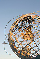 THIS IMAGE IS AVAILABLE EXCLUSIVELY FROM GETTY IMAGES<br /> <br /> Please search for image # sb10062249b-001 on www.gettyimages.com<br /> <br /> The Unisphere, Steel Globe Built for the 1964-65 World's Fair, Flushing Meadow Corona Park, Queens, New York City, New York State, USA