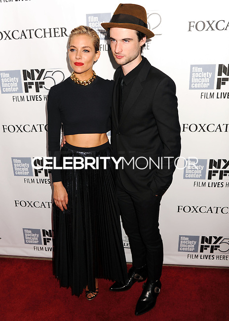NEW YORK CITY, NY, USA - OCTOBER 10: Sienna Miller, Tom Sturridge arrive at the 52nd New York Film Festival - 'Foxcatcher' Premiere held at Alice Tully Hall on October 10, 2014 in New York City, New York, United States. (Photo by Celebrity Monitor)