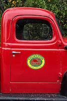 Thurston Lobster Pound truck, Bernard, Maine, USA