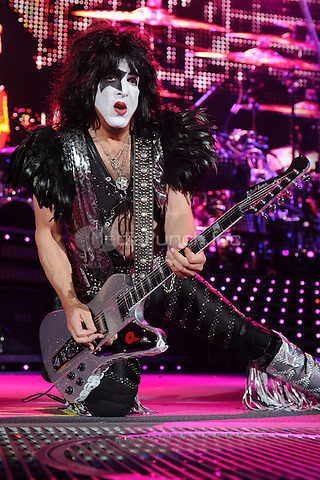 ALBUQUERQUE NM - AUGUST 7:  Paul Stanley of Kiss performs at the Hard Rock Casino Albuquerque on August 7, 2012 in Albuquerque, New Mexico.