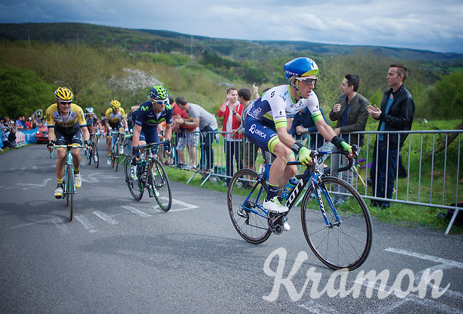Simon Yates (GBR/Orica-GreenEDGE) up La Redoute (1650m/9.7%)<br /> <br /> 101th Liège-Bastogne-Liège 2015