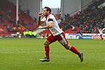 Sheffield United's Billy Sharp celebrates his opening goal - Sheffield United vs Coventry City - SkyBet League One - Bramall Lane - Sheffield - 13/12/2015 Pic Philip Oldham/SportImage