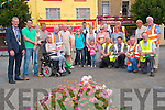 Tidy Town's Winners: Members of Listowel's Tidy Town Committee celebrating their Gold Medal win at the National competition on Monday in Dublin pictuerd in The Square on Tuesday last.