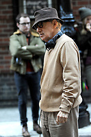 www.acepixs.com<br /> September 11, 2017 New York City<br /> <br /> Woody Allen seen on location for the Woody Allen Summer Project in New York City on September 11, 2017.<br /> <br /> Credit: Kristin Callahan/ACE Pictures<br /> <br /> Tel: 646 769 0430<br /> Email: info@acepixs.com